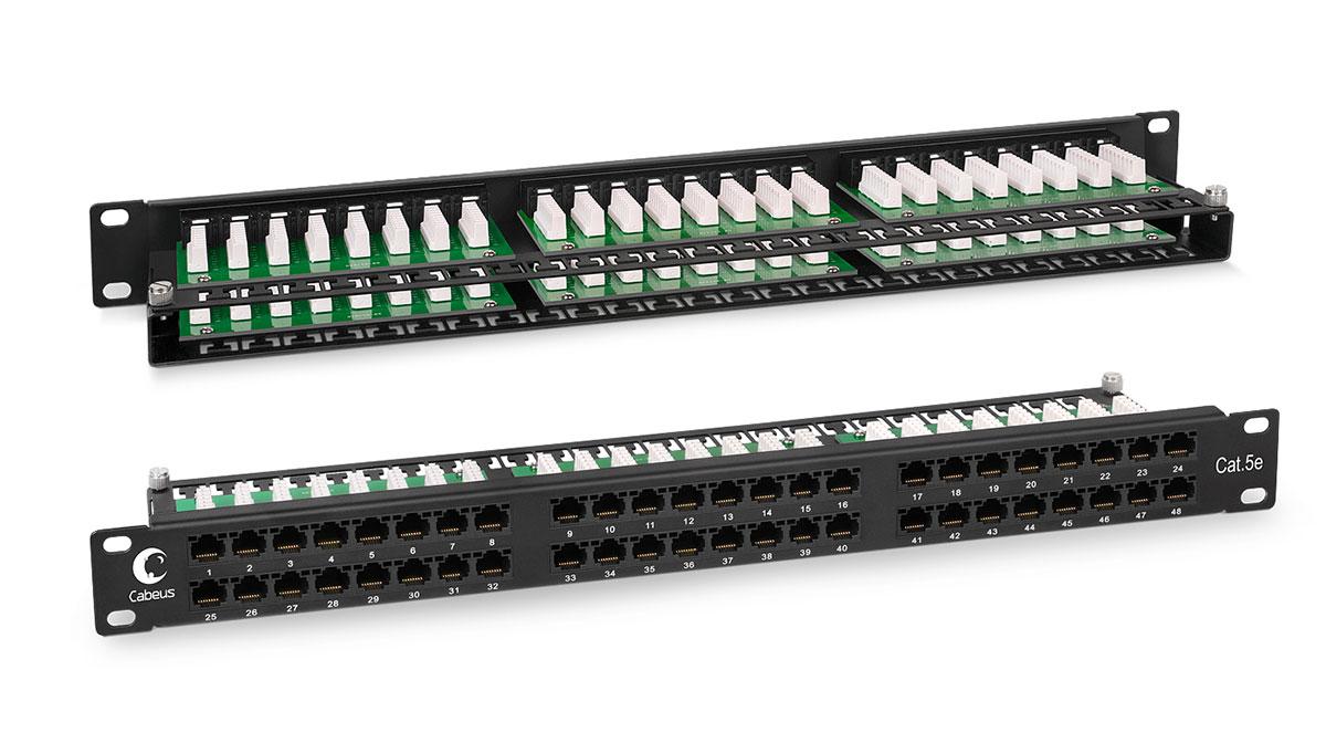 "Cabeus PLHD-48-CAT.5E-DUAL IDC-1U Патч-панель высокой плотности 19"", 1U, 48 портов RJ-45, категория 5e, Dual IDC PLHD-48-Cat.5e-Krone IDC-1U PLHD-48-CAT.5E-DUAL IDC-1U"