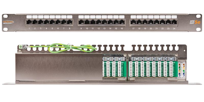 """NMC-RP24SD2-1U-MT Коммутационная панель NIKOMAX 19"""", 1U, 24 порта, Кат.5e (Класс D), 100МГц, RJ45/8P8C, 110/KRONE, T568A/B, полный экран, с органайзером, металлик - гарантия: 5 лет расширенная / 25 лет системная NMC-RP24SD2-1U-MT"""