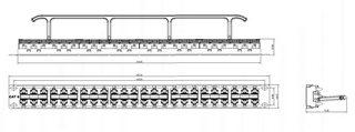 """Hyperline PPHD-19-48-8P8C-C6-110D Патч-панель высокой плотности 19"""", 1U, 48 портов RJ-45, категория 6, Dual IDC PPHD-19-48-8P8C-C6-110D"""