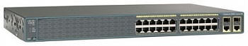Коммутатор WS-C2960-24PC-S Cisco Catalyst 2960 24 10/100 PoE + 2 T/SFP LAN Lite Image