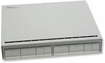 Коробка зоновой разводки Modular Zone Distribution Box empty up to 12 Snap-in connectors with shutter, неоснащенная Nexans