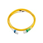 [N123.4CLY2 / N122.4CLY2] Коммутационный шнур LANmark-OF Patch cord Singlemode 2LC - 2SC LSZH Yellow 2м Nexans