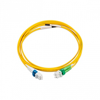 Коммутационный шнур LANmark-OF Patch cord Singlemode 2LC - 2SC LSZH Yellow 2м Nexans
