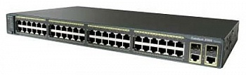 Коммутатор Cisco Catalyst 2960 48 10/100 PoE + 2 1000BT +2 SFP LAN Base Image.